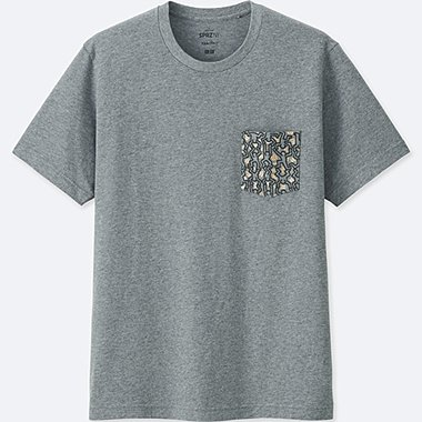 SPRZ NY SHORT-SLEEVE GRAPHIC T-SHIRT (KEITH HARING), DARK GRAY, medium