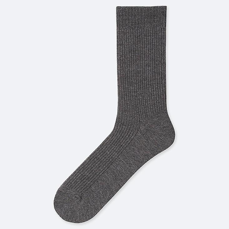 MEN COLOR SOCKS, DARK GRAY, large