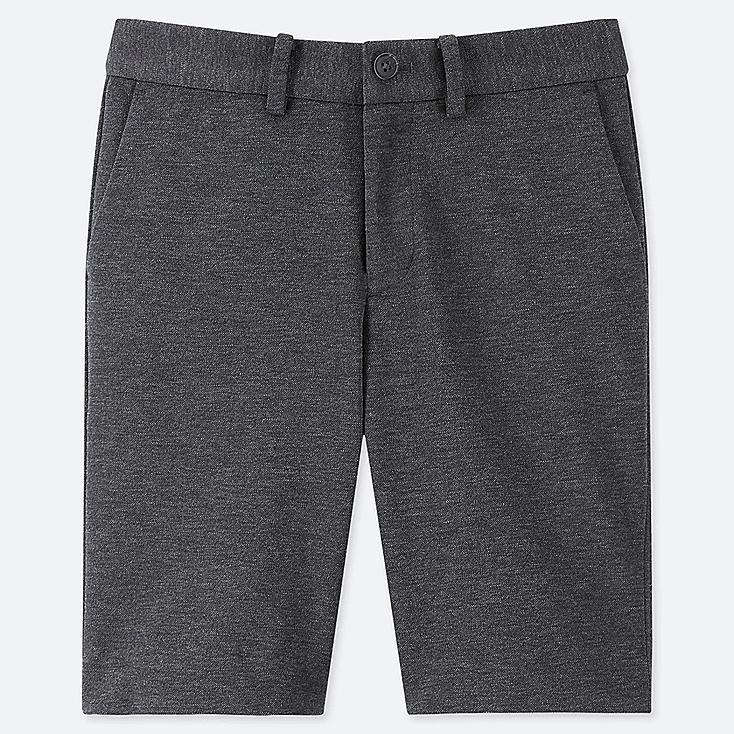 BOYS COMFORT HALF PANTS, DARK GRAY, large