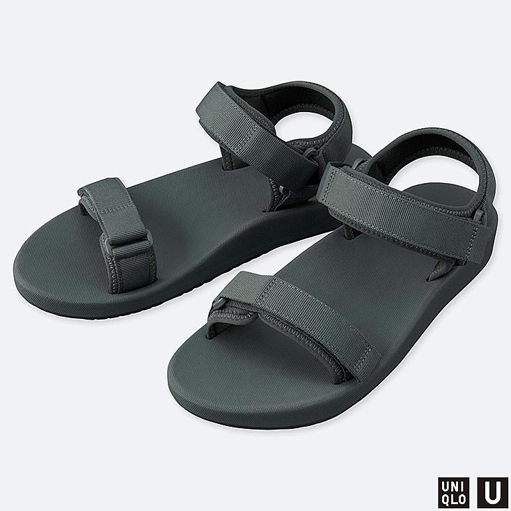 U SANDALS, DARK GRAY, large