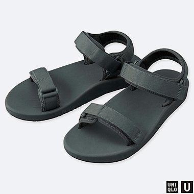 U SANDALS, DARK GRAY, medium