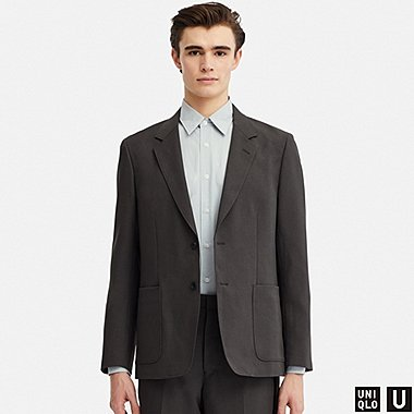 MEN U TAILORED JACKET, DARK GRAY, medium