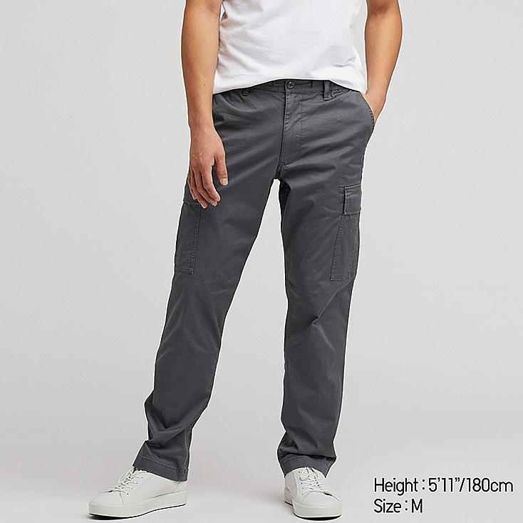 MEN PULL ON RELAXED CARGO PANTS, DARK GRAY, large