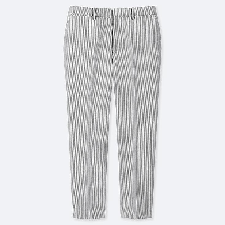e490a0b84bc8 WOMEN EASY CARE STRETCH STRIPED CROPPED TROUSERS