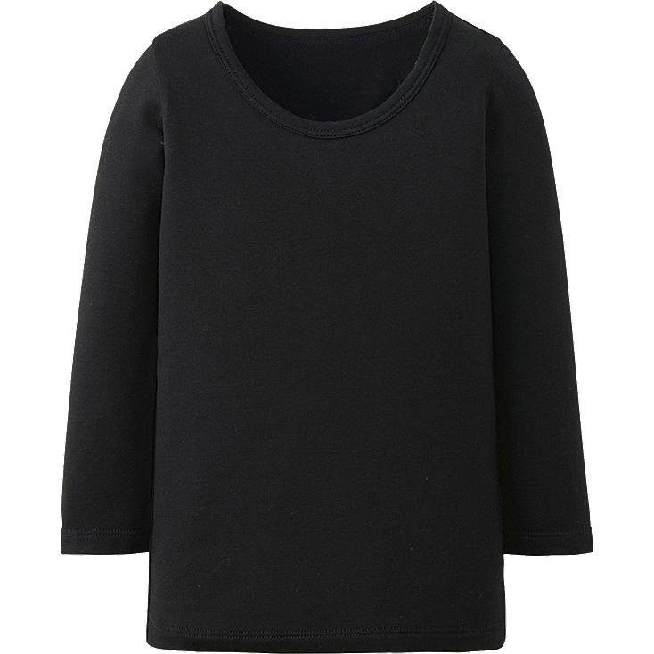 TODDLER HEATTECH T-shirt, BLACK, large