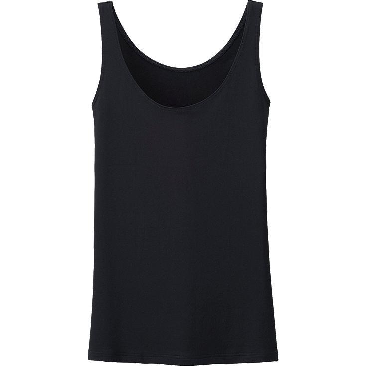 WOMEN AIRism SLEEVELESS TOP, BLACK, large