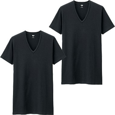 MEN SUPIMA COTTON T-SHIRT 2 PACK, BLACK, medium