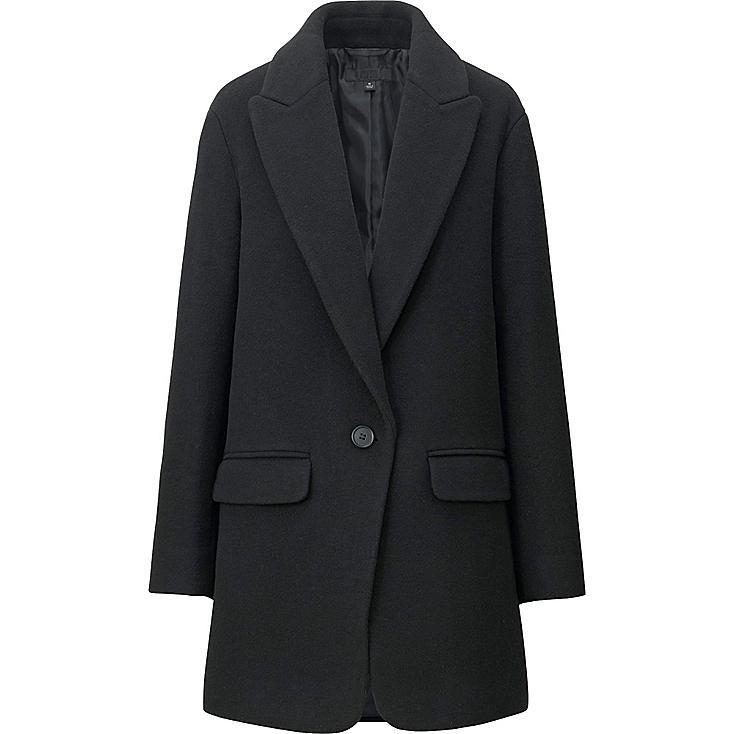 WOMEN Wool Blended Big Silhouette Coat