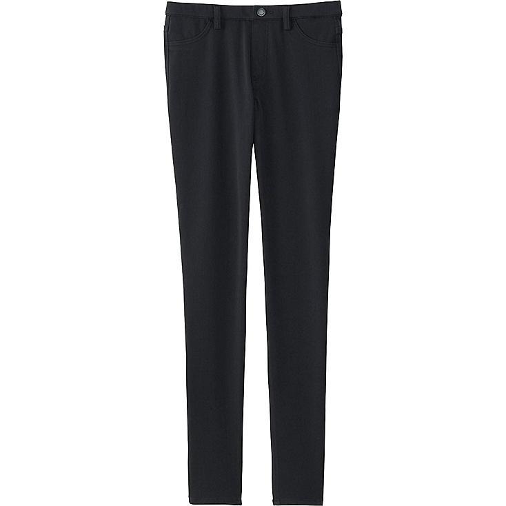 WOMEN LEGGINGS PANTS, BLACK, large