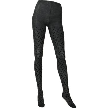 WOMEN HEATTECH Knitted Tights (Square Dot)