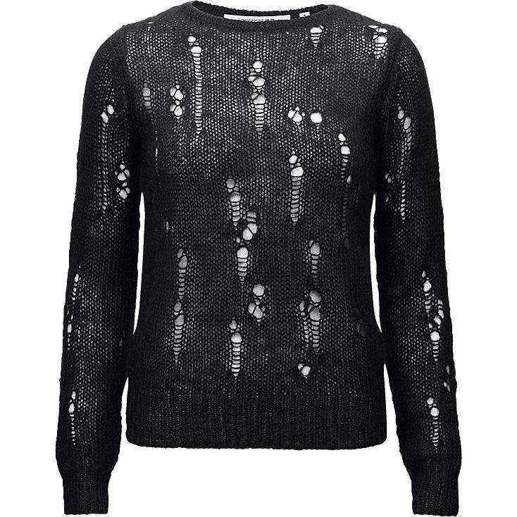 WOMEN CARINE Mohair Blended Sweater