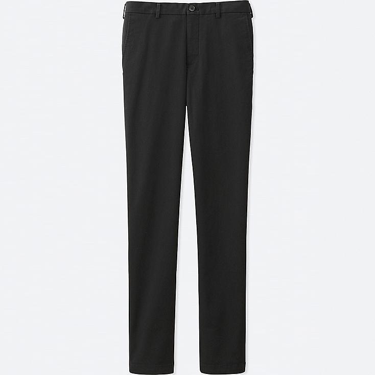Men's Flat Front Slim-Fit Chino Pants, BLACK, large