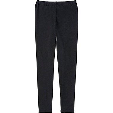 Girls Leggings, BLACK, medium