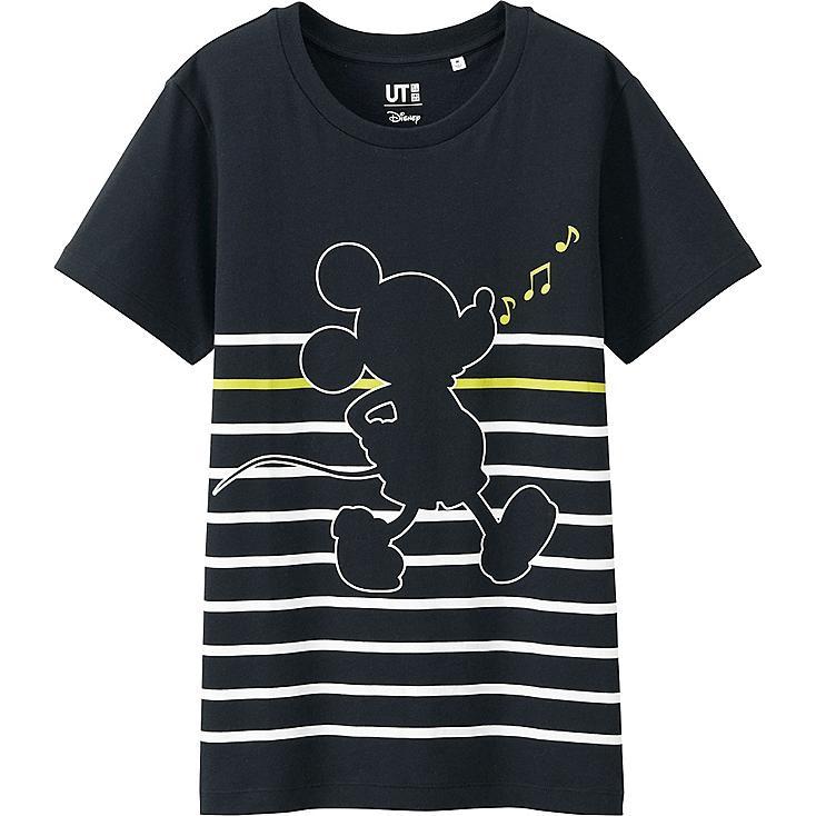 Women Disney Project Graphic T-Shirt, BLACK, large