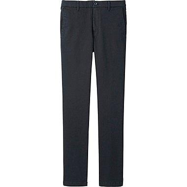 Mens Ultra Stretch Chino Flat Front Pants, BLACK, medium