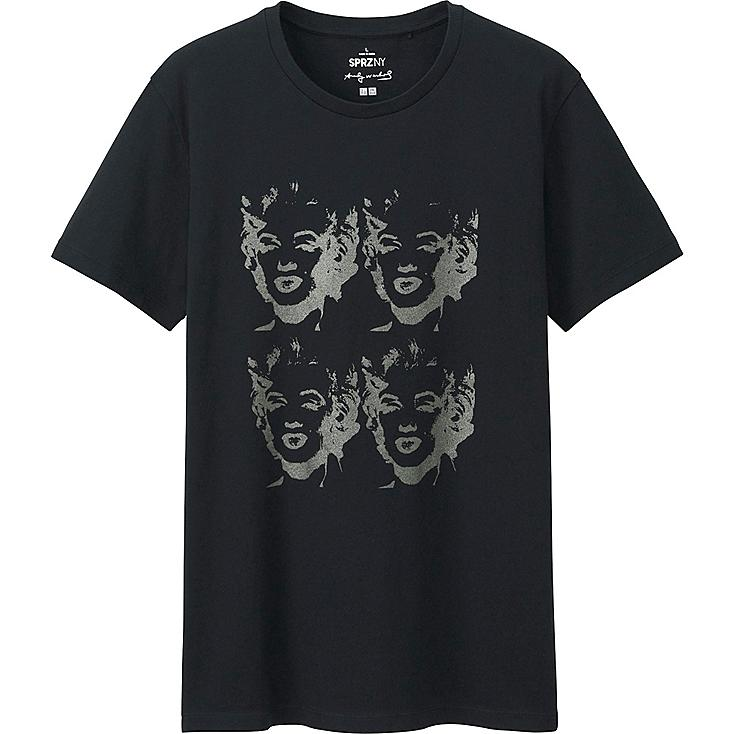 Men's SPRZ NY Andy Warhol Graphic Tee, BLACK, large
