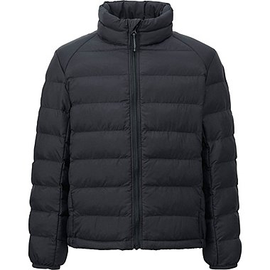 BOYS LIGHT WARM PADDED JACKET, BLACK, medium