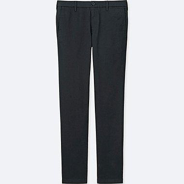 MEN ULTRA STRETCH SKINNY FIT CHINO FLAT FRONT PANTS, BLACK, medium