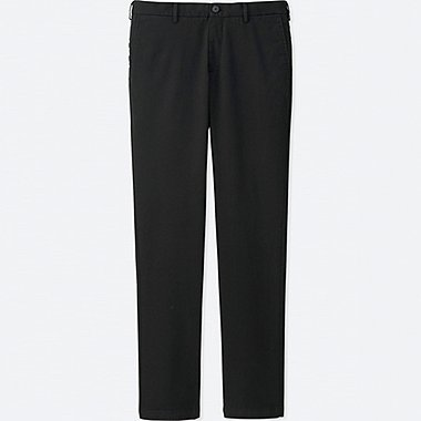 MEN SLIM FIT CHINO FLAT FRONT PANTS, BLACK, medium
