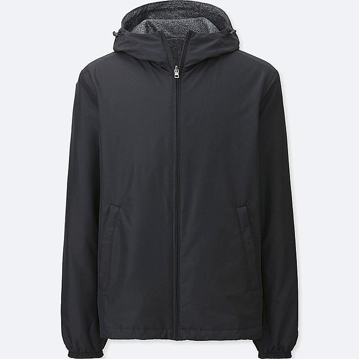 MEN REVERSIBLE PARKA, BLACK, large