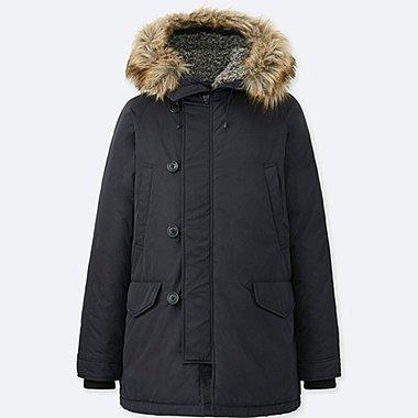 MEN WARM TECH DOWN COAT, BLACK, medium