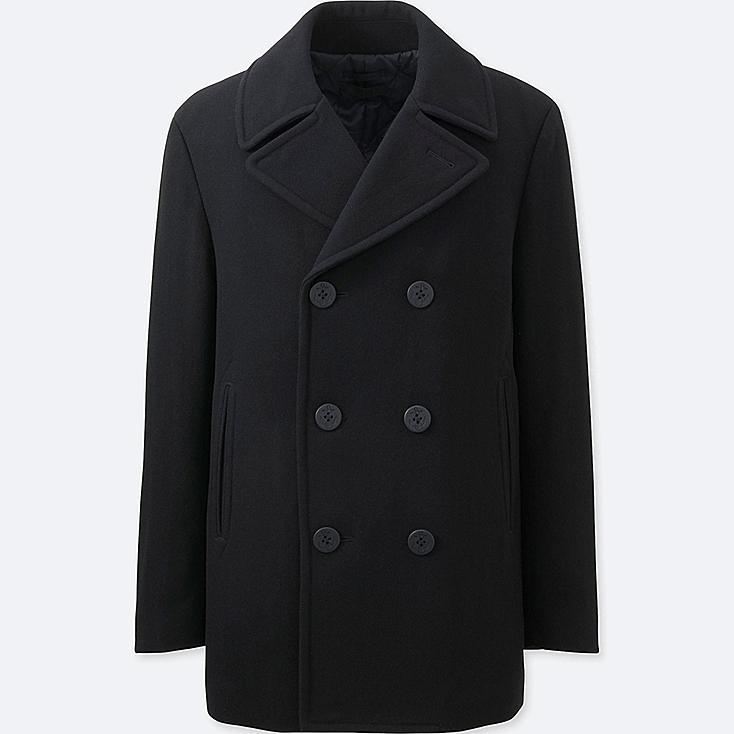 HERREN Pea Coat Aus Wollgemisch