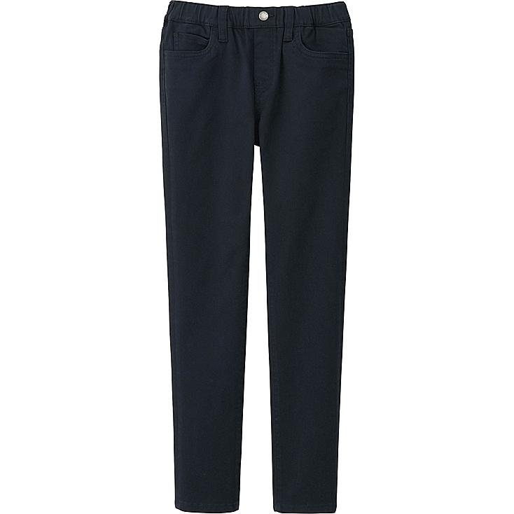 BOYS TWILL SLIM FIT RELAXED PANTS, BLACK, large