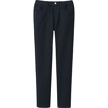 BOYS TWILL SLIM FIT RELAXED PANTS, BLACK, medium
