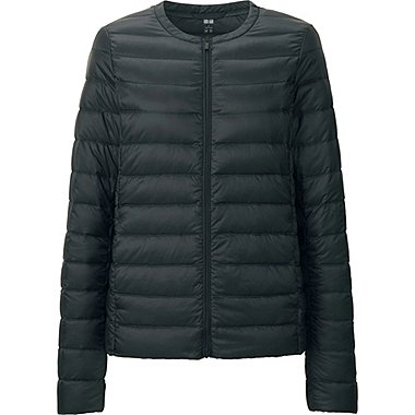 WOMEN ULTRA LIGHT DOWN COMPACT JACKET, BLACK, medium