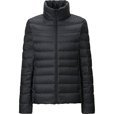 WOMEN ULTRA LIGHT DOWN JACKET, BLACK, medium