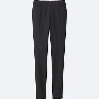 WOMEN HEATTECH HIGH RISE LEGGINGS PANTS, BLACK, medium