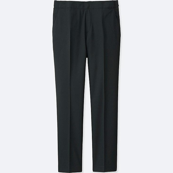 Women Smart Style Ankle Pants, BLACK, large