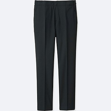 Women Smart Style Ankle Pants, BLACK, medium