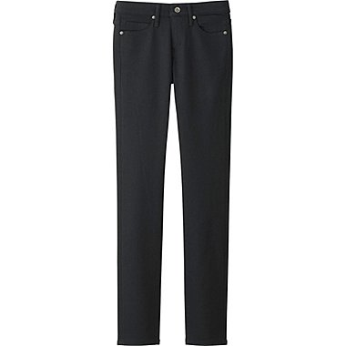 WOMEN SKINNY STRAIGHT JEANS, BLACK, medium