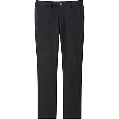 Women Cropped Leggings, BLACK, medium