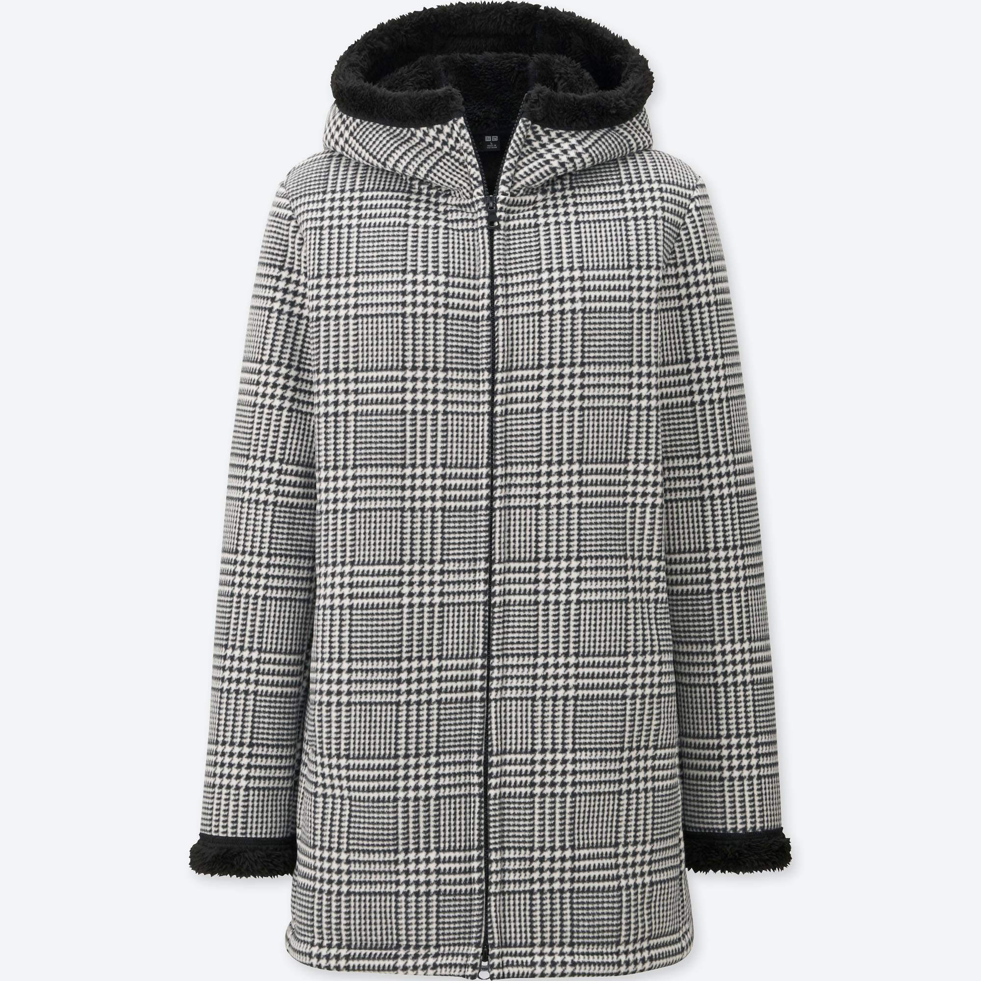 WOMEN PRINTED FLUFFY LONG SLEEVE FLEECE COAT | UNIQLO US