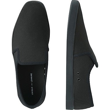 LEMAIRE CANVAS SLIP-ON, BLACK, medium