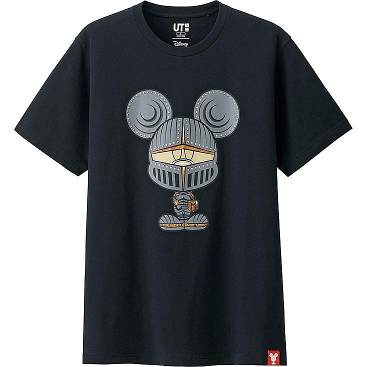MEN MICKEY 100 SHORT SLEEVE GRAPHIC T-SHIRT, BLACK, large