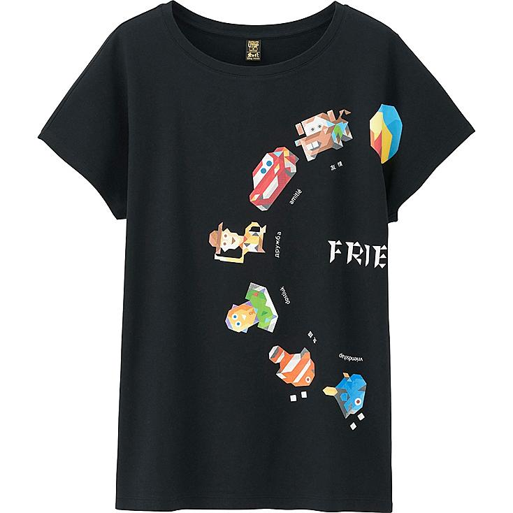 Women UTGP Pixar Graphic T-Shirt, BLACK, large