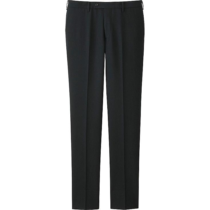 MEN WOOL SLIM FIT STRETCH FLAT FRONT TROUSERS