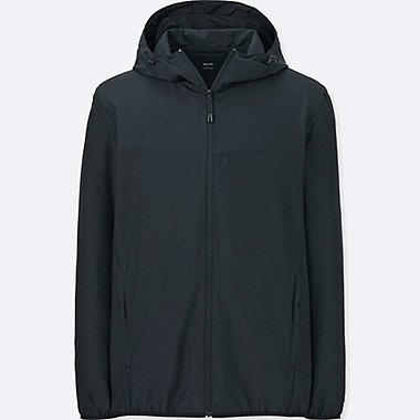 Men POCKETABLE PARKA, BLACK, medium