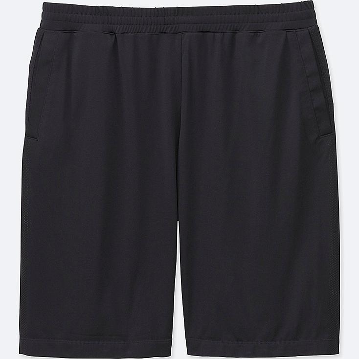 MEN DRY-EX KNEE LENGTH PANTS, BLACK, large