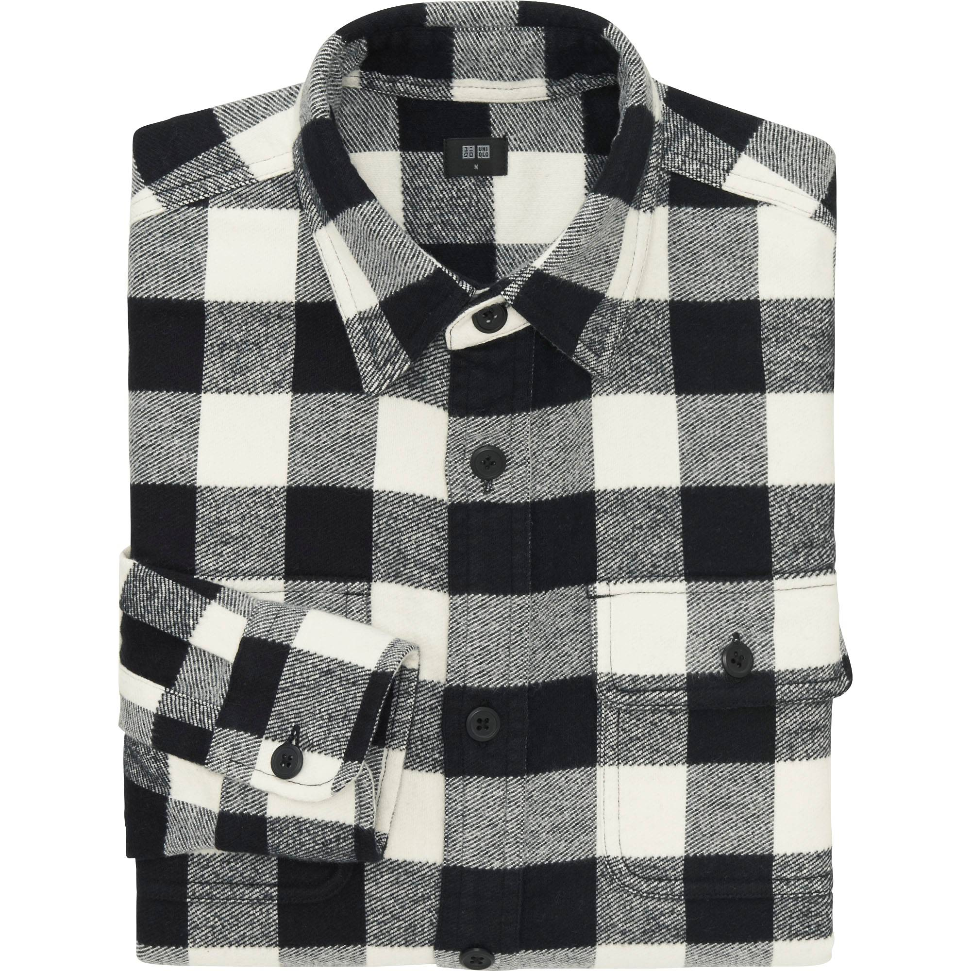 MEN HEAVY FLANNEL LONG SLEEVE SHIRT | UNIQLO US
