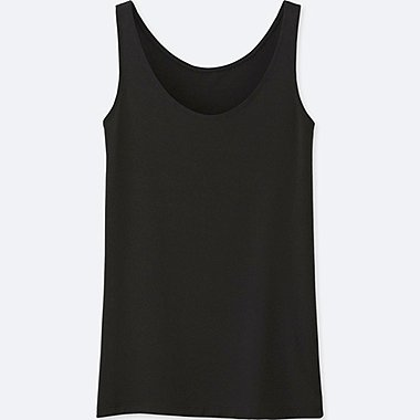 WOMEN AIRism SLEEVELESS TOP, BLACK, medium