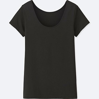 DAMEN AIRism T-Shirt Scoop Neck