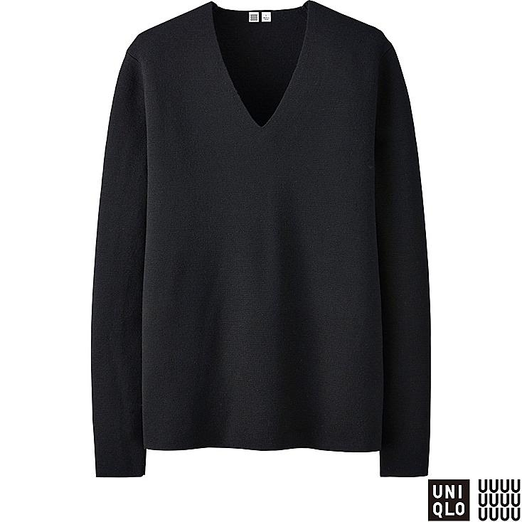 MEN U MILANO RIBBED V-NECK SWEATER | UNIQLO US