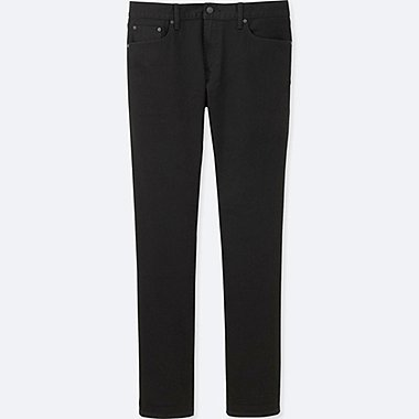 MEN SLIM FIT JEANS (SELVEDGE), BLACK, medium