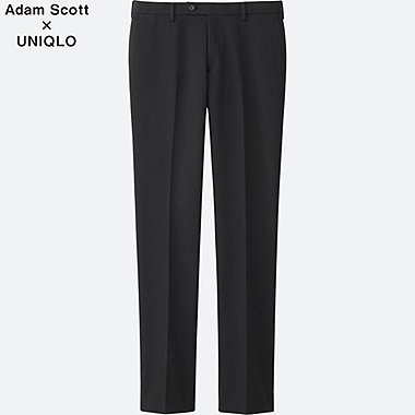 MEN Stretch Slim Fit Flat Front Trousers