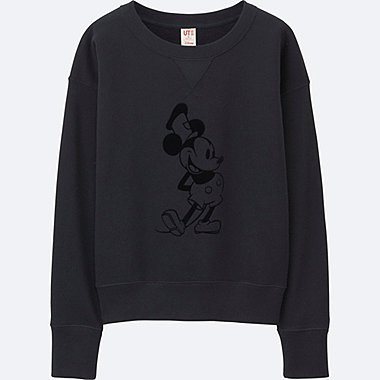 WOMEN DISNEY COLLECTION SWEATSHIRT, BLACK, medium