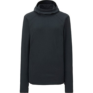 WOMEN Dry Seamless Long Sleeve Hooded Pullover